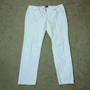 Torrid Denim White Jeans Skinny 18